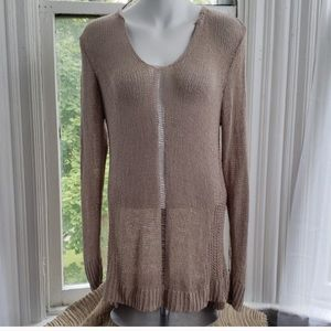 Sonoma Tan Sweater Destroyed Look M